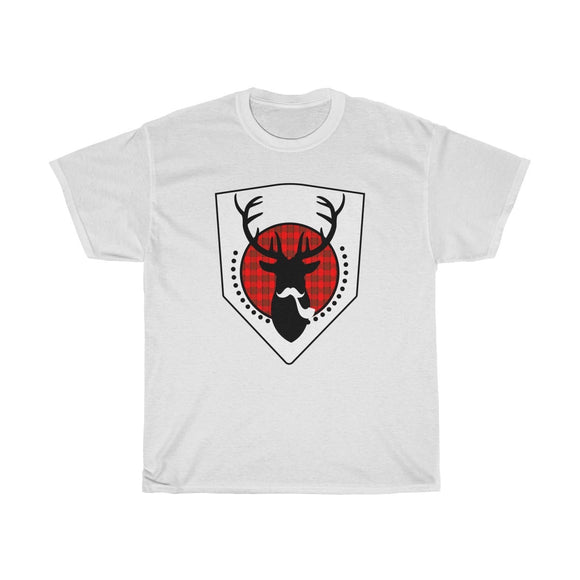 Smoking Moose Head Hipster Graphic Mens Tee