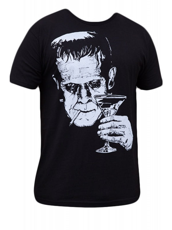 Lowbrow Art Company Mens Monster Martini T Shirt