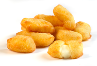 Breaded White Cheddar Cheese Curd - 5 lb