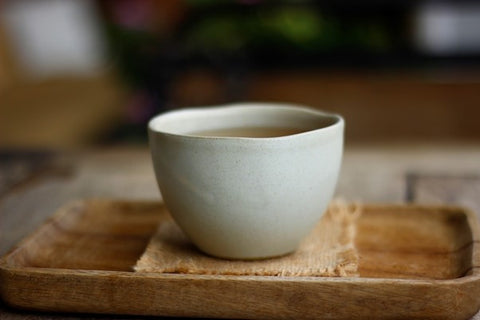 traditional white teacup