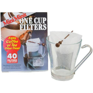 MiniMinit Tea Filters & Thread Stick [40 Pack]