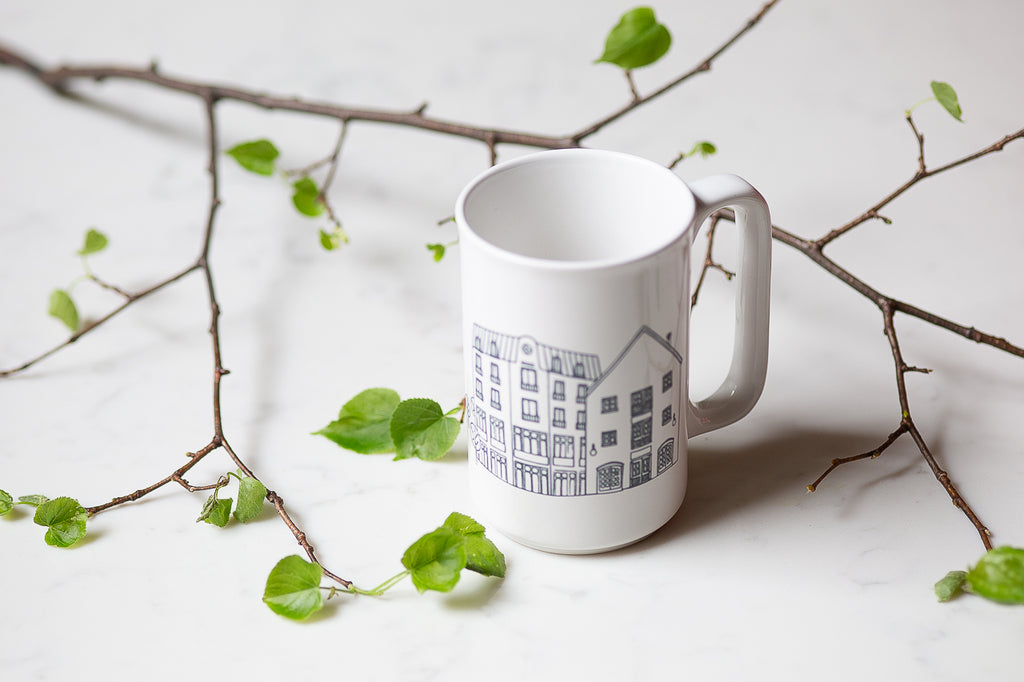 Auberge Saint-Antoine coffee cup (Quebec gift idea)