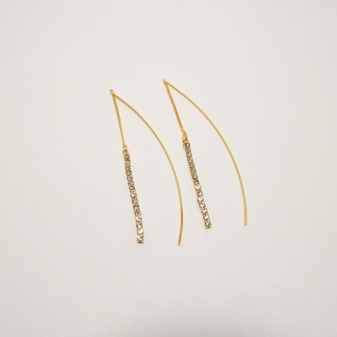 15 Stone Thread Earrings
