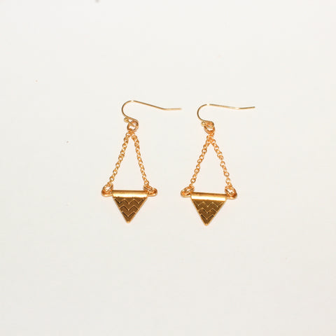 Chevron Aztec Triangle Earrings