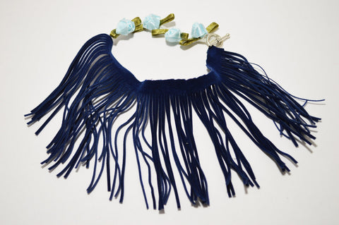 Blues - Boho Fringe Anklet