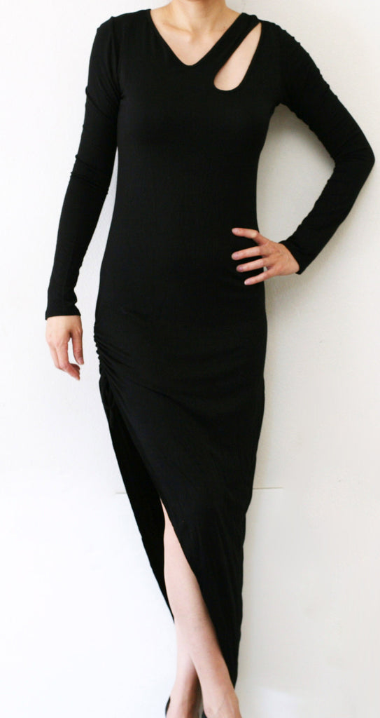 Black Asymetrical Dress
