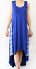 Blue Maxi Dress with White Stripe