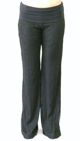 Black Lace Pants with Full Lining