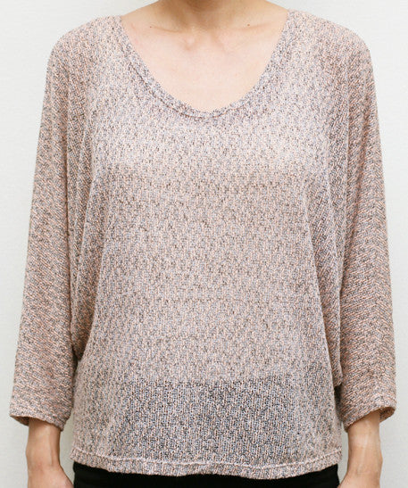 Open Back Dolman Sleeve Top