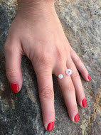 U Shaped Pearl Ring