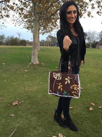 Fallin' Leaves Brown Tote
