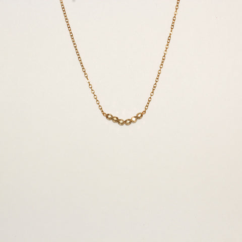 Gold Beaded Short Necklace