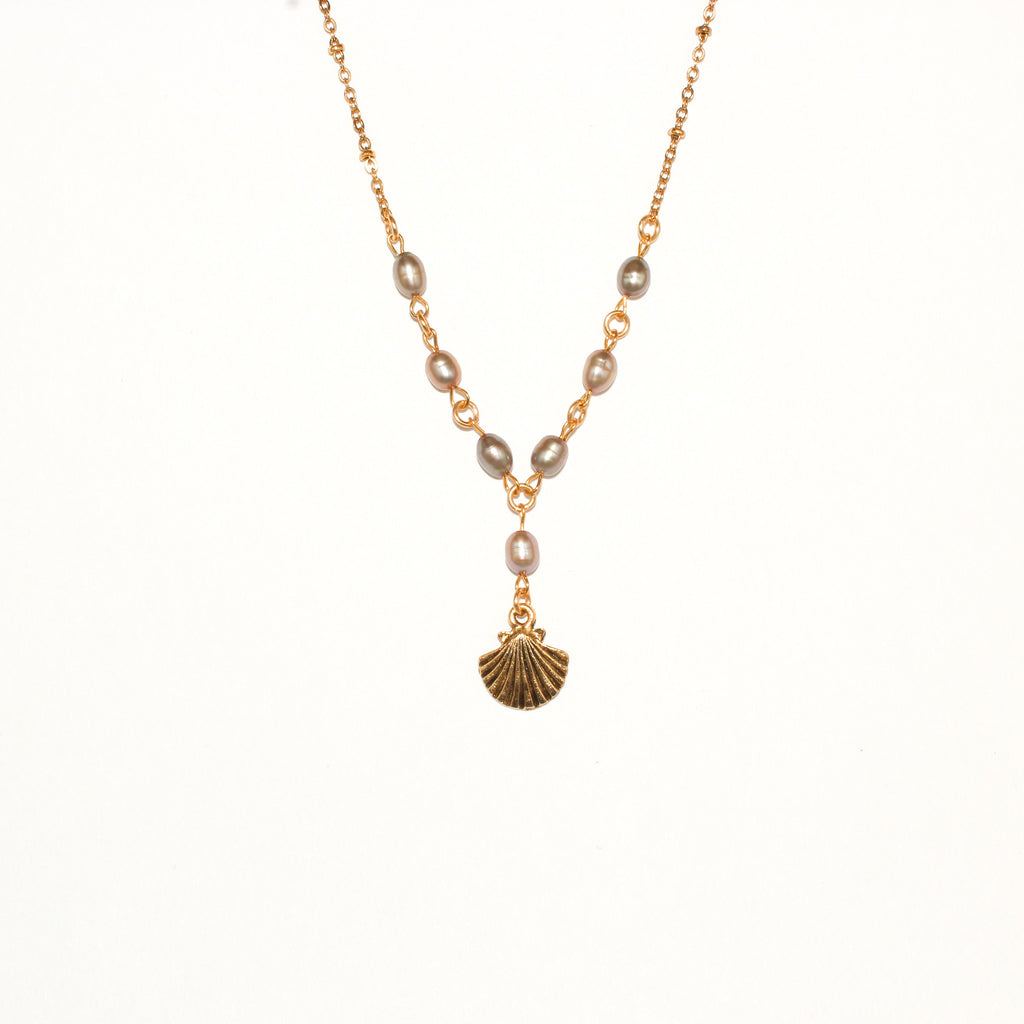 Pearl Rosary Shell Necklace