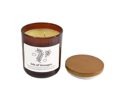 natural oil soy candle energising orange  Edit alt text