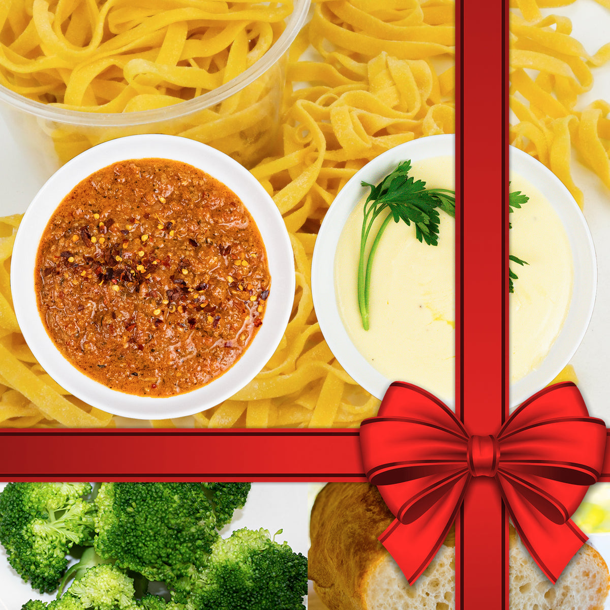Gift Meal Kit For 2 Featuring Bolognese and Alfredo