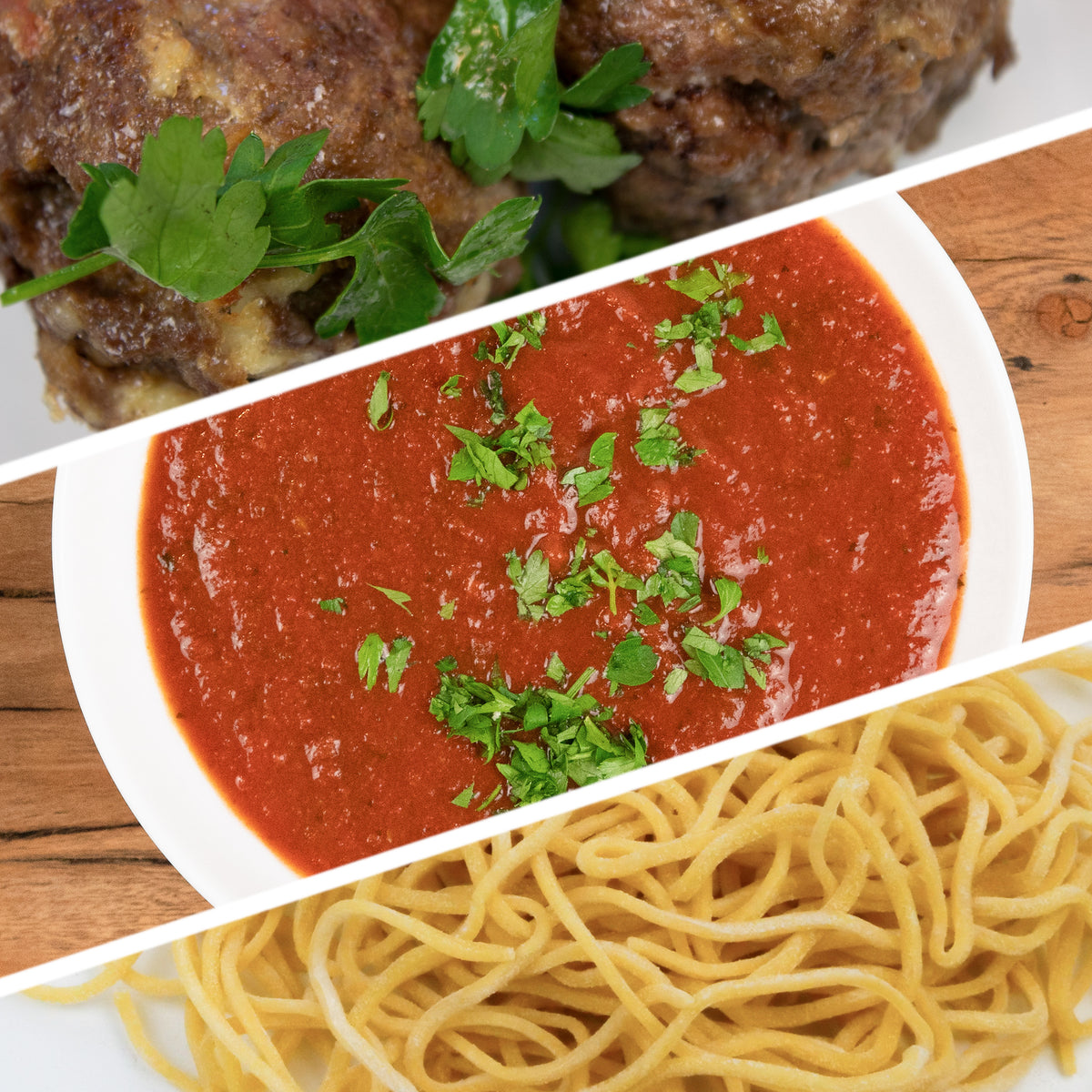 Spaghetti Marinara and Meatballs