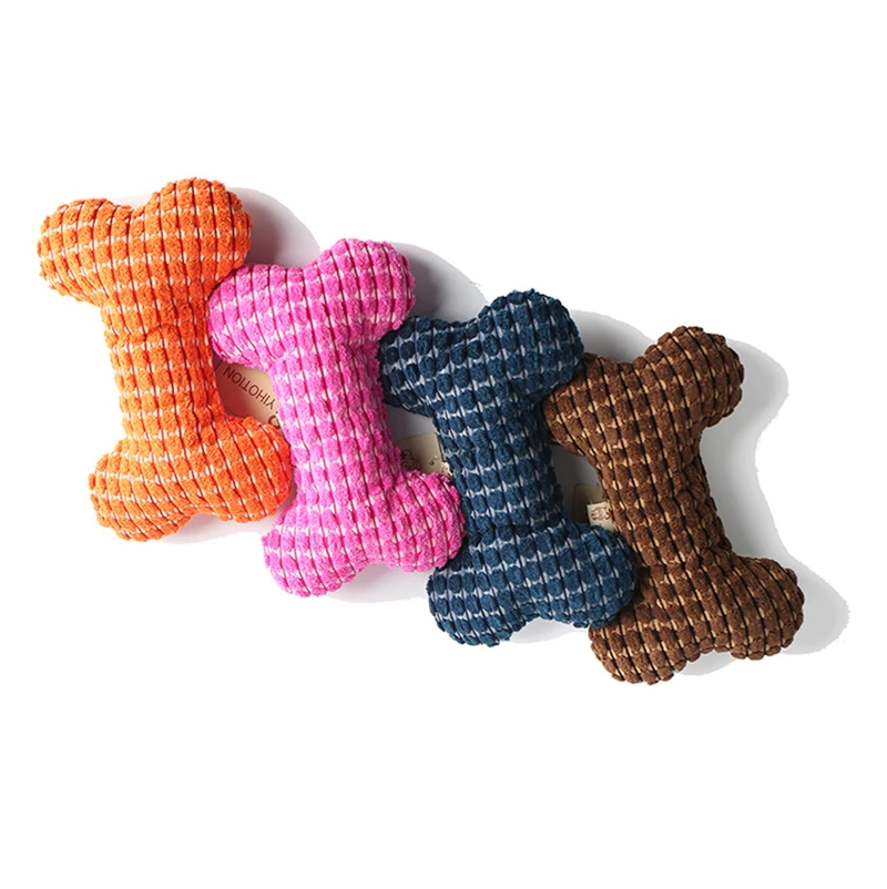 Corduroy Bone Dog Toy Durable Chew Plush Cord Bone (Various Colors) - dogsl1fe.myshopify.com - FREE SHIPPING - [variant_title] - Home of Top quality dog products & Accessories for dogs and dog lovers