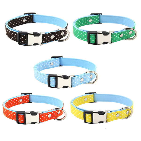 Polka Dot Adjustable Fabric Padded Dog Collar with Breakaway Clip (Various Colors & Sizes) - dogsl1fe.myshopify.com - FREE SHIPPING - [variant_title] - Home of Top quality dog products & Accessories for dogs and dog lovers