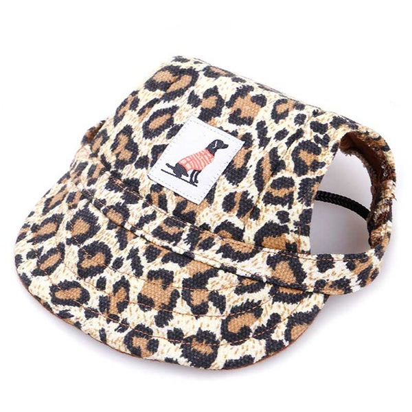 Dog Baseball Cap Visor with Ear Holes (Available in 8 colors & 2 sizes) - dogsl1fe.myshopify.com - FREE SHIPPING - Leopard print / M / United States - Home of Top quality dog products & Accessories for dogs and dog lovers