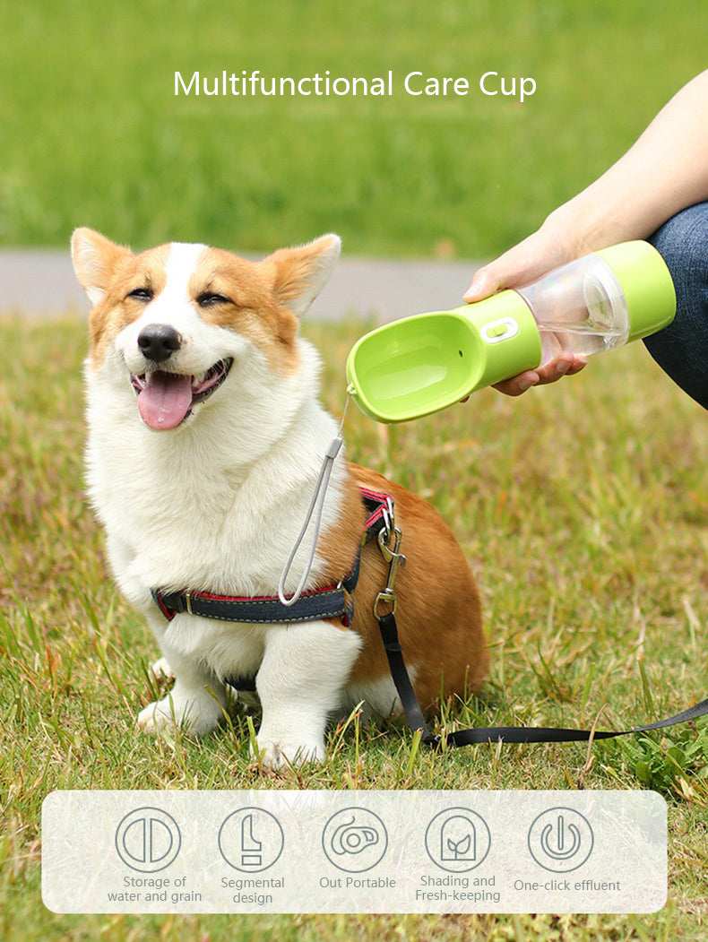 Dogs Portable Travel Water Bottle & Food Container 2-in-1 - dogsl1fe.myshopify.com - FREE SHIPPING - [variant_title] - Home of Top quality dog products & Accessories for dogs and dog lovers