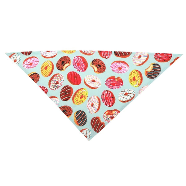 Donut Print Cotton Dog Bandana Kerchief