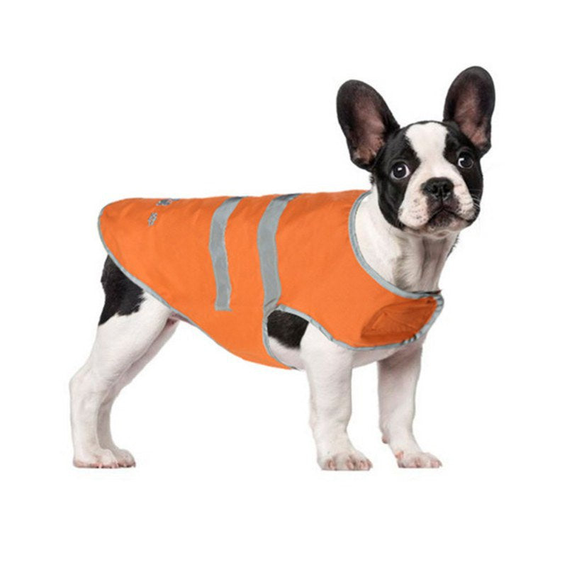 Reflective High Visibility Orange Waterproof Vest Dog Raincoat for Small, Medium and Large Dogs (Sizes XS-XXXL) - dogsl1fe.myshopify.com - FREE SHIPPING - [variant_title] - Home of Top quality dog products & Accessories for dogs and dog lovers