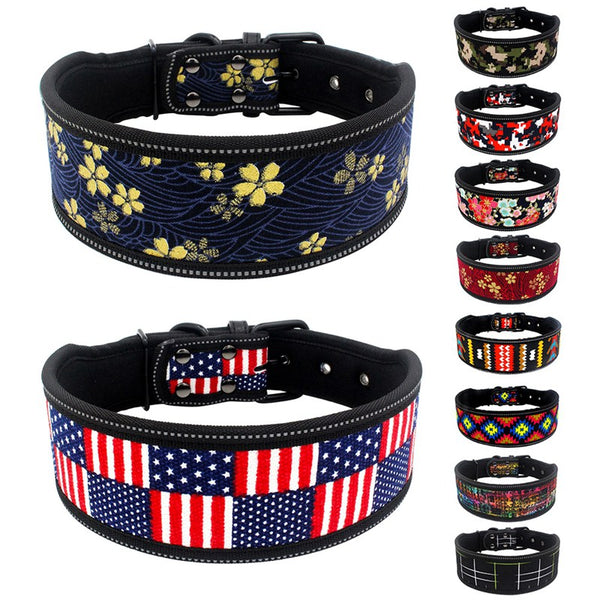 Pattern Print Design Wide Adjustable Nylon Dog Collar with Buckle (Various Patterns & Sizes) - dogsl1fe.myshopify.com - FREE SHIPPING - [variant_title] - Home of Top quality dog products & Accessories for dogs and dog lovers