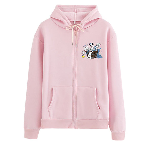 Women's Dalmatian Print Dog Design Long Sleeve Hoodie Sweatshirt (Various Colors) - dogsl1fe.myshopify.com - FREE SHIPPING - [variant_title] - Home of Top quality dog products & Accessories for dogs and dog lovers