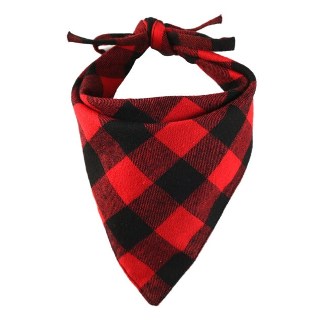Cotton Plaid Check Dog Bandanna Kerchief Pet Scarf (4 Colors) - dogsl1fe.myshopify.com - FREE SHIPPING - Red / United States - Home of Top quality dog products & Accessories for dogs and dog lovers