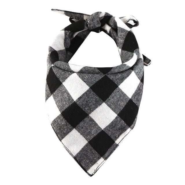 Cotton Plaid Check Dog Bandanna Kerchief Pet Scarf (4 Colors) - dogsl1fe.myshopify.com - FREE SHIPPING - White / United States - Home of Top quality dog products & Accessories for dogs and dog lovers