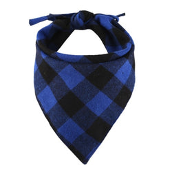 Cotton Plaid Check Dog Bandanna Kerchief Pet Scarf (4 Colors) - dogsl1fe.myshopify.com - FREE SHIPPING - Blue / United States - Home of Top quality dog products & Accessories for dogs and dog lovers