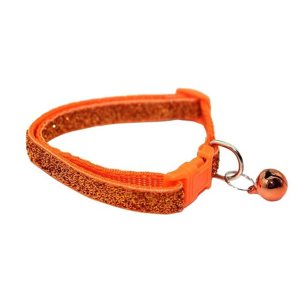 Glitter Finish Adjustable Dog Collar with Bell and Breakaway Clip for Small Dog or Puppy (Various Colors) - dogsl1fe.myshopify.com - FREE SHIPPING - O / United States - Home of Top quality dog products & Accessories for dogs and dog lovers