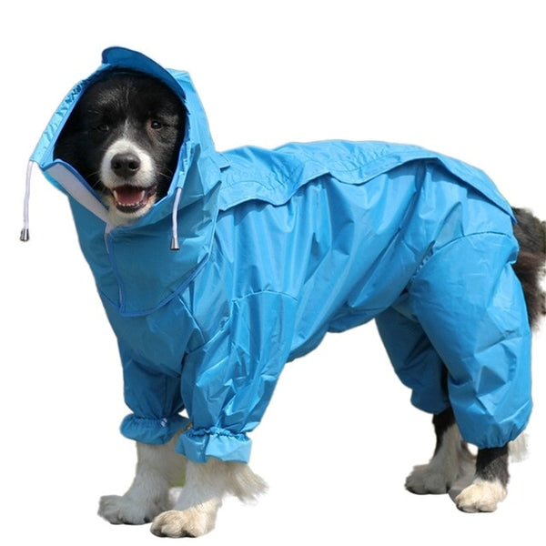 Waterproof Dog Raincoat with Hood for Medium & Large Dogs - dogsl1fe.myshopify.com - FREE SHIPPING - BLUE / United States / Medium - Home of Top quality dog products & Accessories for dogs and dog lovers