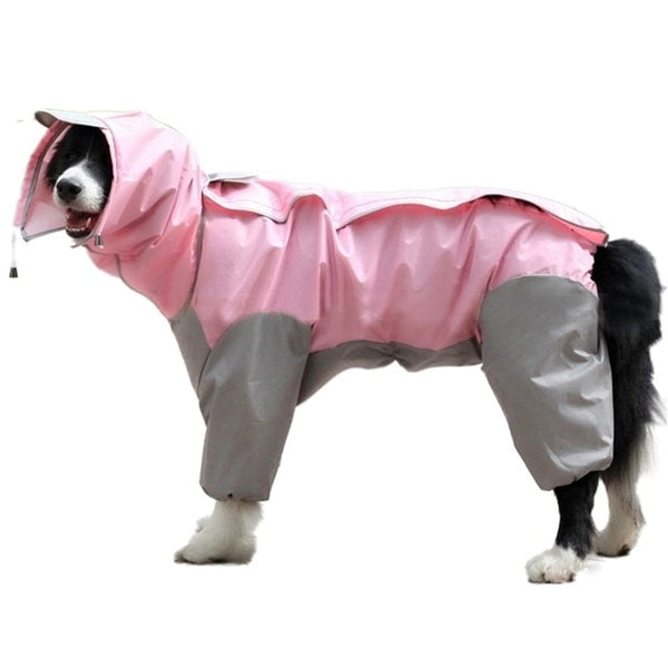 Waterproof Dog Raincoat with Hood for Medium & Large Dogs - dogsl1fe.myshopify.com - FREE SHIPPING - PINK / United States / Medium - Home of Top quality dog products & Accessories for dogs and dog lovers