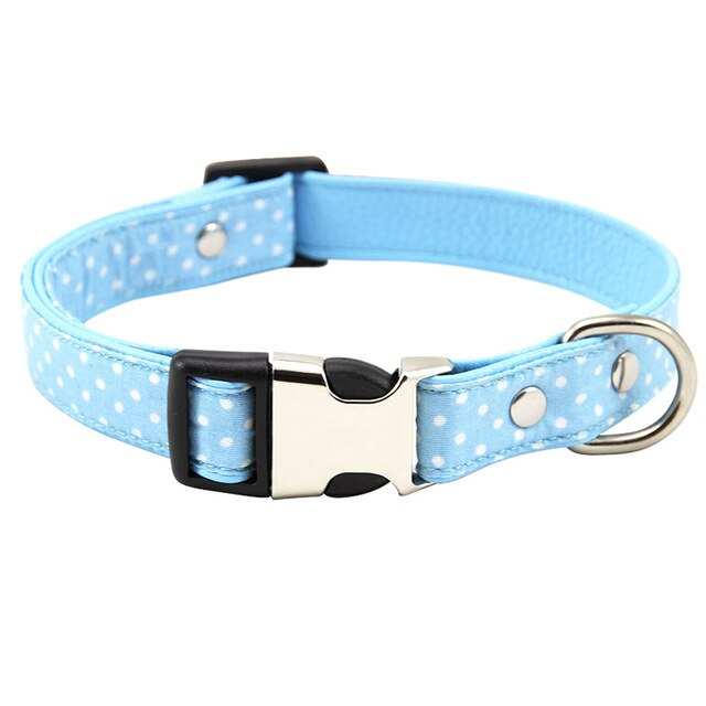 Polka Dot Adjustable Fabric Padded Dog Collar with Breakaway Clip (Various Colors & Sizes) - dogsl1fe.myshopify.com - FREE SHIPPING - L / L / United States - Home of Top quality dog products & Accessories for dogs and dog lovers