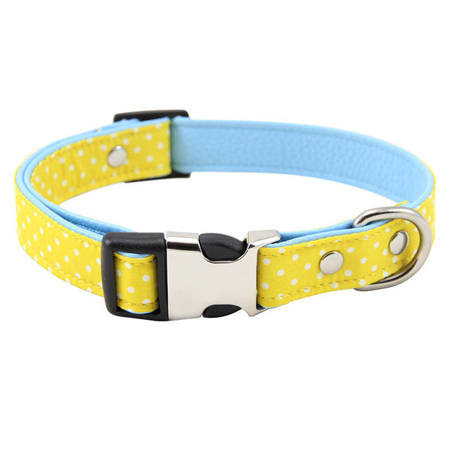Polka Dot Adjustable Fabric Padded Dog Collar with Breakaway Clip (Various Colors & Sizes) - dogsl1fe.myshopify.com - FREE SHIPPING - Y / M / United States - Home of Top quality dog products & Accessories for dogs and dog lovers