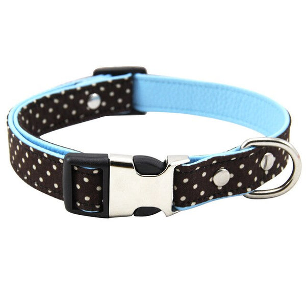 Polka Dot Adjustable Fabric Padded Dog Collar with Breakaway Clip (Various Colors & Sizes) - dogsl1fe.myshopify.com - FREE SHIPPING - C / L / United States - Home of Top quality dog products & Accessories for dogs and dog lovers