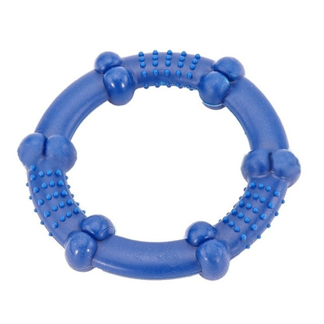 Hoop Durable Non-Toxic Rubber Throwing Circle Dog Chew Toy (Various Colors) - dogsl1fe.myshopify.com - FREE SHIPPING - Blue / United States - Home of Top quality dog products & Accessories for dogs and dog lovers