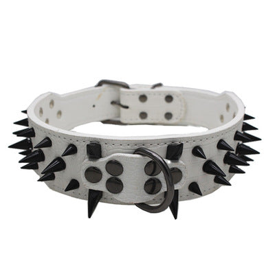 Spiked Leather Dog Collar With Studs (Various Color Options) - dogsl1fe.myshopify.com - FREE SHIPPING - W / S / United States - Home of Top quality dog products & Accessories for dogs and dog lovers