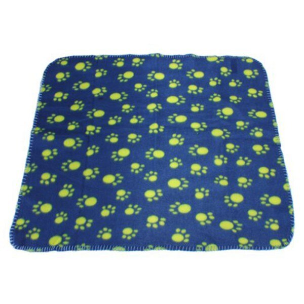 Paw Print Design Snug Warm Fleece Dog Blanket Mat (Various Patterns & Colors) - dogsl1fe.myshopify.com - FREE SHIPPING - Blue / L / United States - Home of Top quality dog products & Accessories for dogs and dog lovers