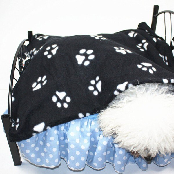 Paw Print Design Snug Warm Fleece Dog Blanket Mat (Various Patterns & Colors) - dogsl1fe.myshopify.com - FREE SHIPPING - [variant_title] - Home of Top quality dog products & Accessories for dogs and dog lovers