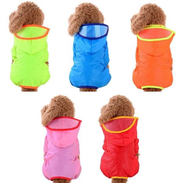 Colorful Waterproof Dog Raincoat with Hood for Small and Medium Dogs (Various Colors & Sizes) - dogsl1fe.myshopify.com - FREE SHIPPING - [variant_title] - Home of Top quality dog products & Accessories for dogs and dog lovers