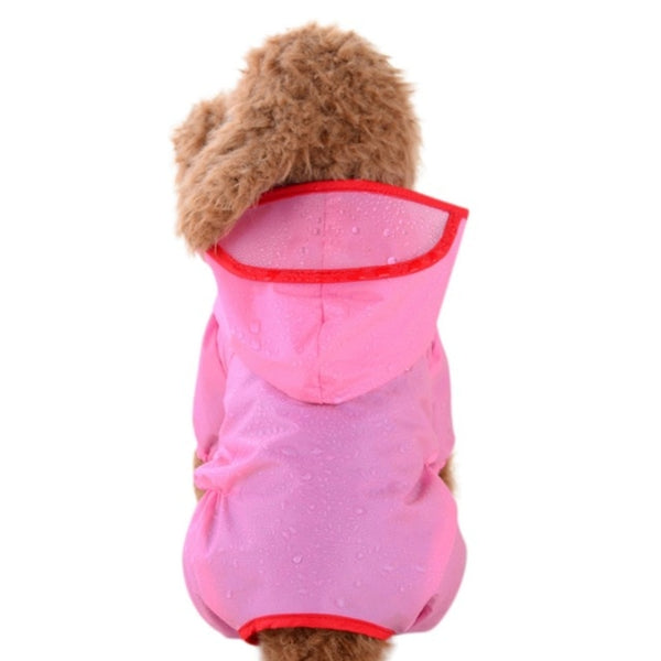 Colorful Waterproof Dog Raincoat with Hood for Small and Medium Dogs (Various Colors & Sizes) - dogsl1fe.myshopify.com - FREE SHIPPING - Pink / L / United States - Home of Top quality dog products & Accessories for dogs and dog lovers