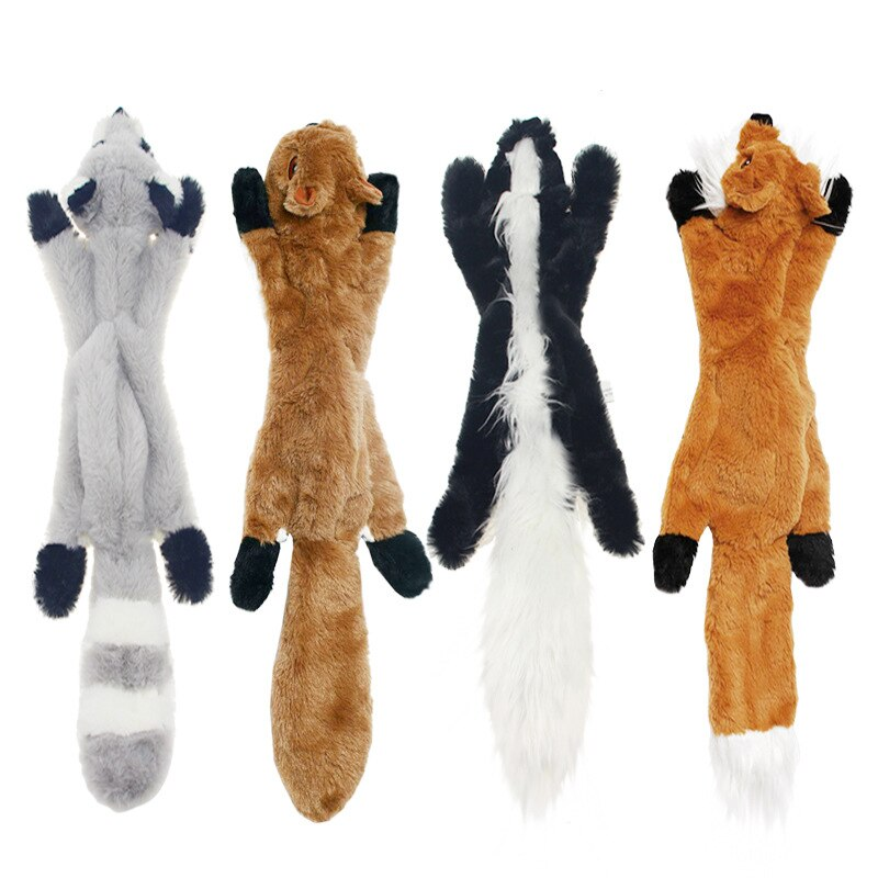 Animal Soft Fox Squirrel Skunk Plush Dog Toy (Various Styles) - dogsl1fe.myshopify.com - FREE SHIPPING - [variant_title] - Home of Top quality dog products & Accessories for dogs and dog lovers