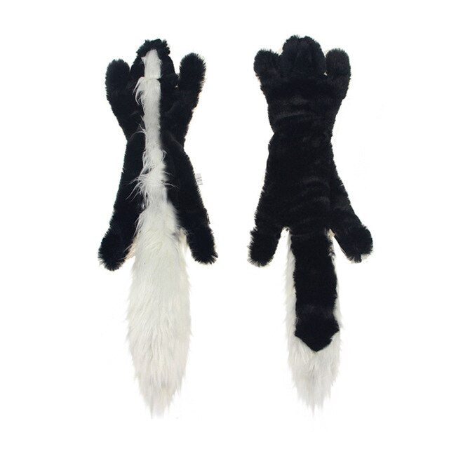 Animal Soft Fox Squirrel Skunk Plush Dog Toy (Various Styles) - dogsl1fe.myshopify.com - FREE SHIPPING - C / United States - Home of Top quality dog products & Accessories for dogs and dog lovers
