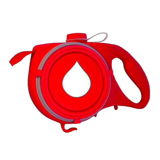 Dog Retractable Leash 4 In 1 Outgoing Supply Telescopic Traction Belt Foldable Water Bottle Snack Holder Litter Bag Container - dogsl1fe.myshopify.com - FREE SHIPPING - Red / United States - Home of Top quality dog products & Accessories for dogs and dog lovers