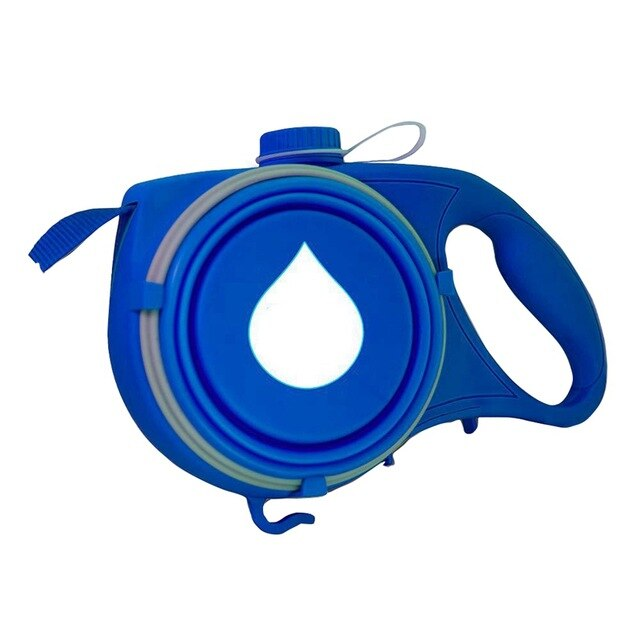 Dog Retractable Leash 4 In 1 Outgoing Supply Telescopic Traction Belt Foldable Water Bottle Snack Holder Litter Bag Container - dogsl1fe.myshopify.com - FREE SHIPPING - Blue / United States - Home of Top quality dog products & Accessories for dogs and dog lovers