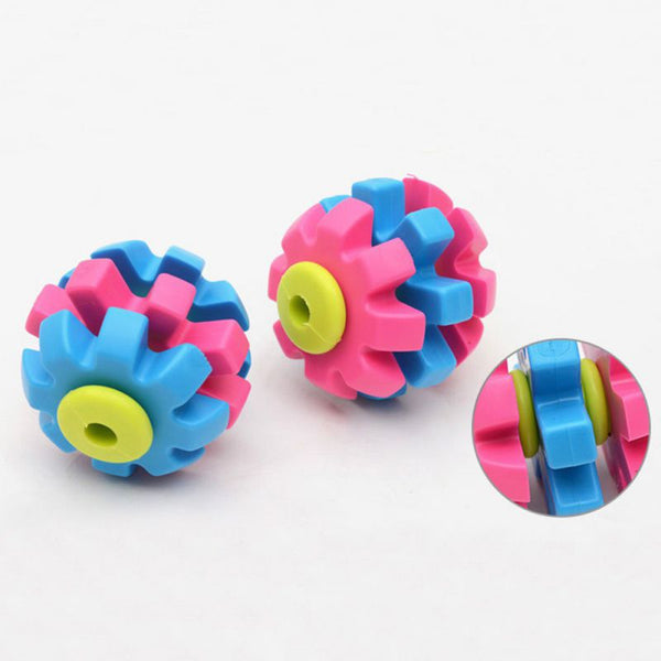Interactive Game Rubber Cog Ball Dog Toy - dogsl1fe.myshopify.com - FREE SHIPPING - [variant_title] - Home of Top quality dog products & Accessories for dogs and dog lovers