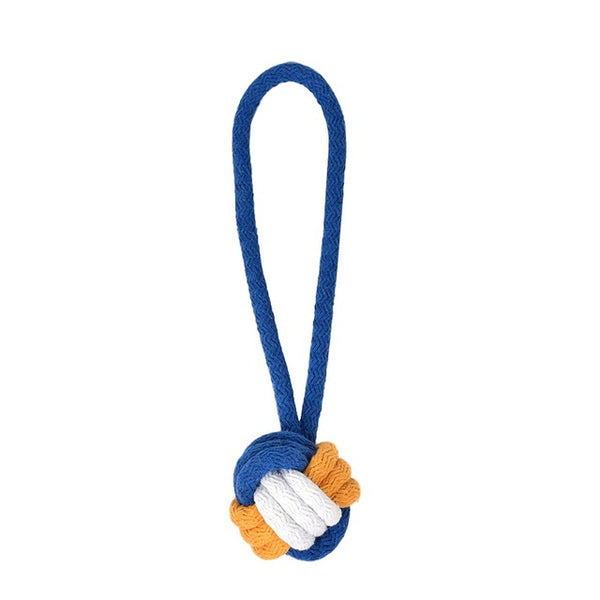 Cotton Rope Knot Ball Dog Toy with Hoop Tug of War (Various Colors) - dogsl1fe.myshopify.com - FREE SHIPPING - L / United States - Home of Top quality dog products & Accessories for dogs and dog lovers