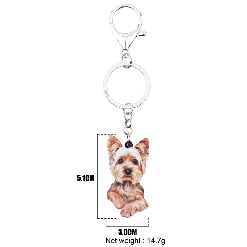 Yorkshire Terrier Acrylic Charm Keychain Yorkie Dog Puppy Keyring - dogsl1fe.myshopify.com - FREE SHIPPING - [variant_title] - Home of Top quality dog products & Accessories for dogs and dog lovers